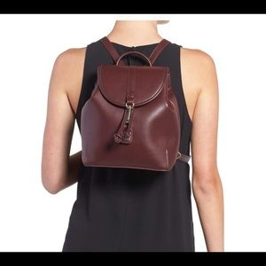 sole society brand new backpack in burgundy color
